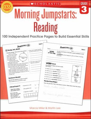 Morning Jumpstarts, Reading Grade 3: 100 Independent Practice Pages to Build Essential Skills  -     By: Martin Lee, Marcia Miller