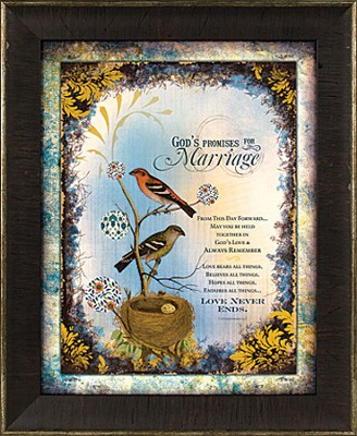 God's Promises for Marriage Framed Print  -