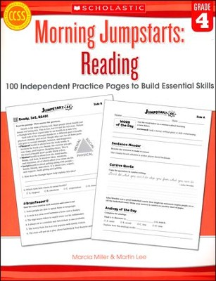 Morning Jumpstarts, Reading Grade 4: 100 Independent Practice Pages to Build Essential Skills  -     By: Martin Lee, Marcia Miller
