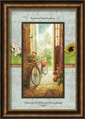 As You Travel Along His Pathway Framed Art  -