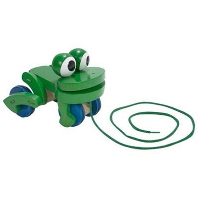 Frolicking Frog Pull Toy  -     By: Melissa & Doug