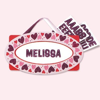 Hearts Door Plaque  -     By: Melissa & Doug
