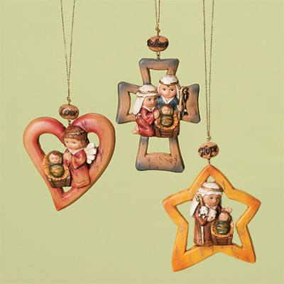 Heart Ornament, Set of 3  -