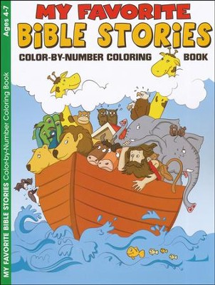 My Favorite Bible Stories, Coloring Book, Ages 4-7   -