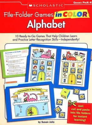 File-Folder Games in Color: Alphabet  -     By: Susan Julio