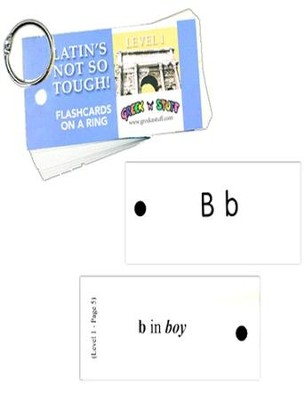 Latin's Not So Tough! Level 1 Flashcards on a Ring   -