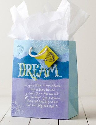 Dream Higher Than a Mountain Gift Bag, Medium  -