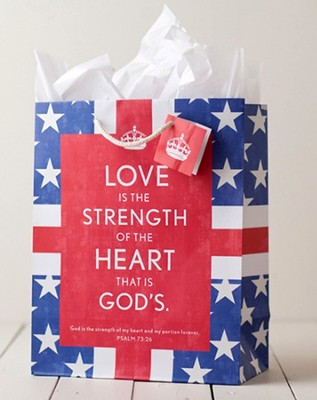 Glory, Strength, Heart Gift Bag, Large  -