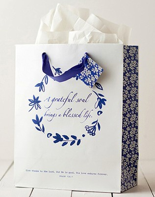 A Grateful Heart Gift Bag, Large  -
