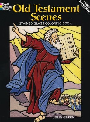 Old Testament Scenes Stained Glass Coloring Book  -     By: John Green