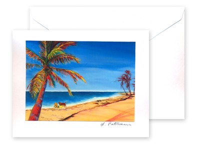 Grand Cayman Beach Card and Envelope   -     By: Laura Petrisin