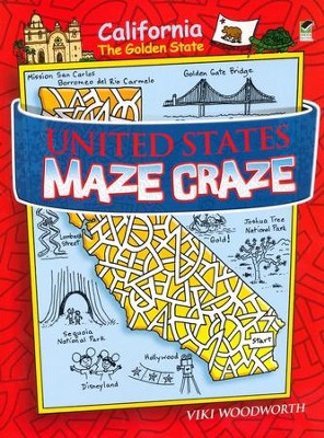 United States Maze Craze  -     By: Viki Woodworth