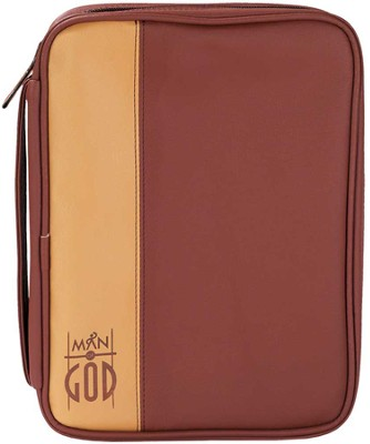 Man of God Bible Cover, Brown, Medium   -