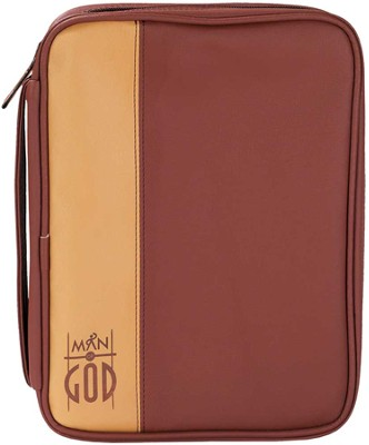 Man of God Bible Cover, Brown, Large  -