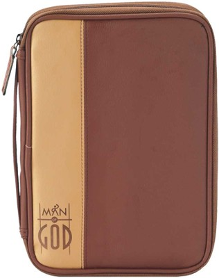 Man of God Bible Cover, Brown, Thinline  -