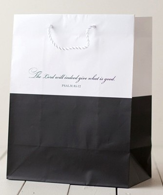 The Lord will Indeed Give Gift Bag, Black, Large  -