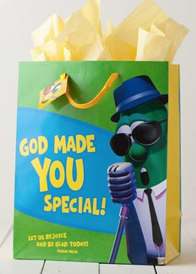 God Made You Special Veggietales Gift Bag, Large  -