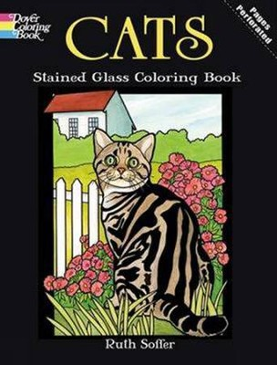 Cats Stained Glass Coloring Book  -     By: Ruth Soffer