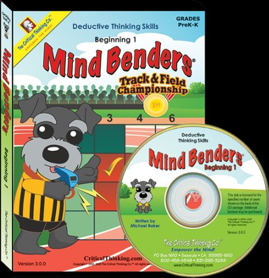 Mind Benders Beginning 1 on CD-Rom   -