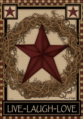 Star Wreath Flag, Large  -
