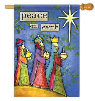 Peace on Earth Flag, Large  -     By: Lisa