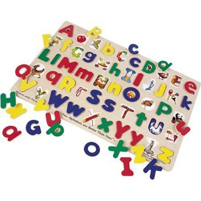 Upper- and Lowercase Alphabet Wooden Puzzle   -     By: Melissa & Doug