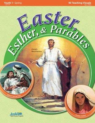 Easter, Esther, & Parables Youth 1 (Grades 7-9) Teaching Visuals  -