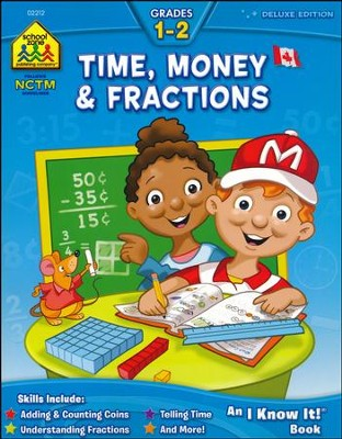 Canadian Time, Money & Fractions, Grades 1-2   -