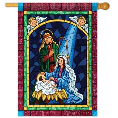 Mosaic Nativity Flag, Large  -