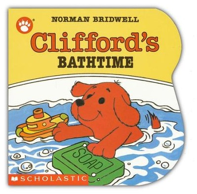 Clifford the Small Red Puppy: Clifford's Bathtime, Board Book   -     By: Norman Bridwell     Illustrated By: Norman Bridwell