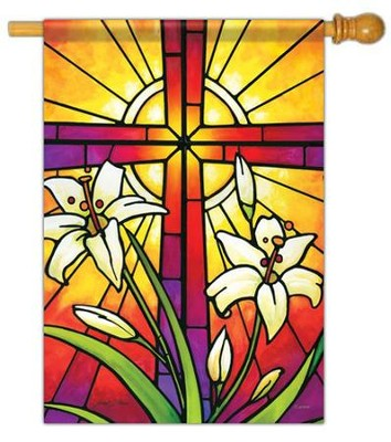 Easter Window Flag, Large  -