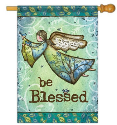 Be Blessed with Wings Flag, Large  -     By: Robin Davis