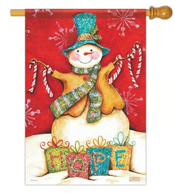 Hope Snowman Flag, Large      -     By: Karla Dornacher