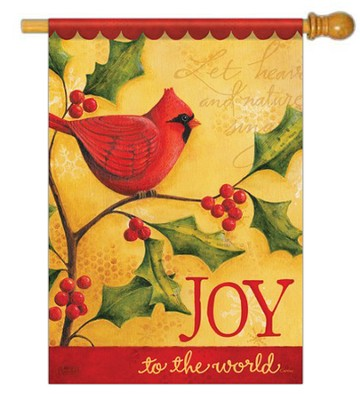 Joy To The World (cardinal), Large Flag  -     By: Karla Dornacher