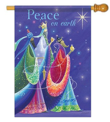 Peace On Earth (Three Kings), Large Flag  -     By: Sarah Summers