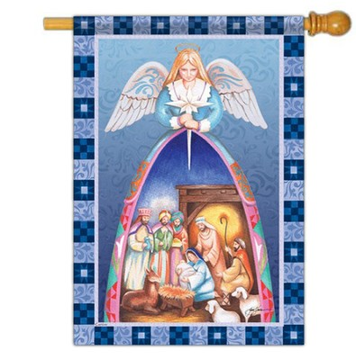 Nativity Angel, Large Flag  -     By: Jim Shore