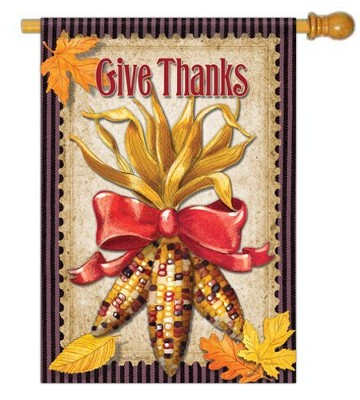 Give Thanks (Maize Bouquet) Large Flag   -     By: Paula Joerling