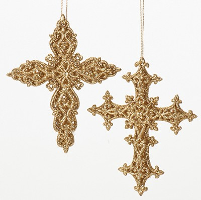 Cross Ornament, Set of 2  -