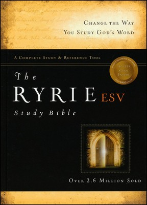 ESV Ryrie Study Bible, Hardback, Thumb-Indexed   -     By: Charles C. Ryrie