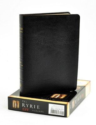 ESV Ryrie Study Bible, Black Genuine Leather  -     By: Charles Ryrie