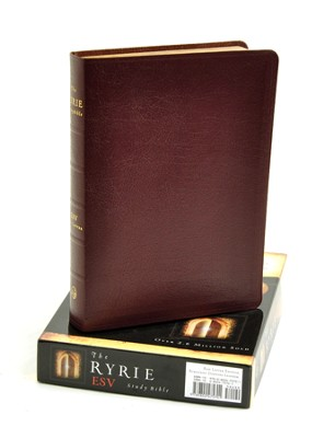 ESV Ryrie Study Bible, Burgundy Genuine Leather  -     By: Charles Ryrie