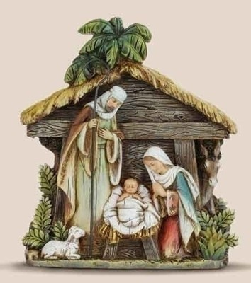 Nativity Holy Family with Stable Figurine  -     By: Joseph Studio