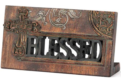 Blessed Plaque with Cross  -
