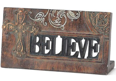 Believe Plaque with Cross  -