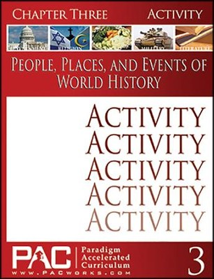 People, Places, & Events of World History Chapter 3 Activities  -