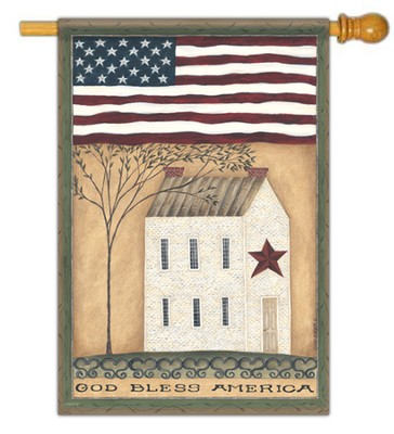 God Bless America Flag, Large  -     By: Cindy Shamp