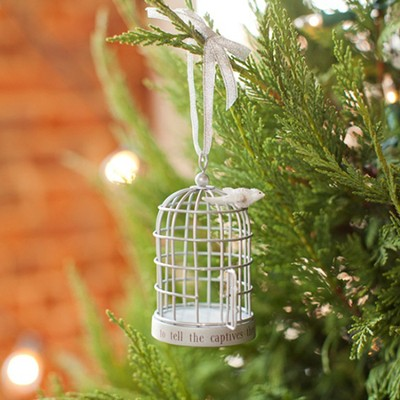 The Lord Has Sent Me, Dove and Cage Ornament  -