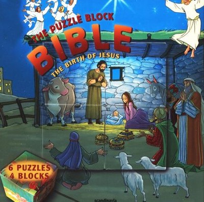 The Birth of Jesus -Puzzle Block Bibles   -     By: Gustavo Mazali