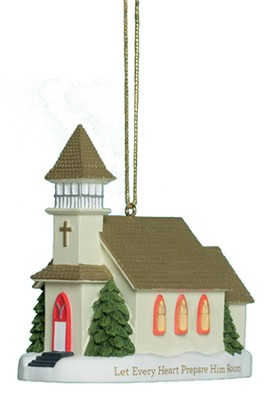 Musical Church Ornament  -