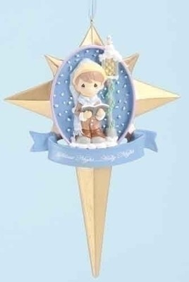 Caroler in Star Ornament, Silent Night  -